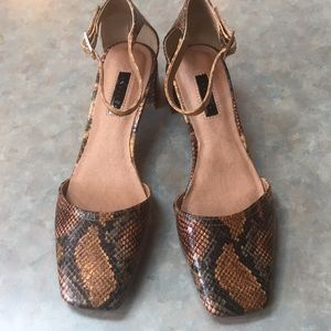 Topshop snakeskin patterned shoes
